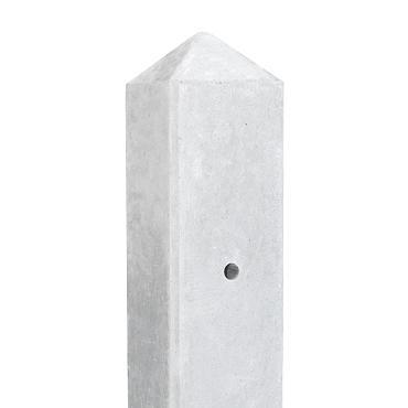 Eindpaal wit/grijs *lichtgewicht  8.5 x 8.5 x 277 cm