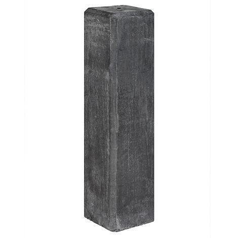 Betonpoer antraciet met afgeschuinde kanten 15x15x60 cm