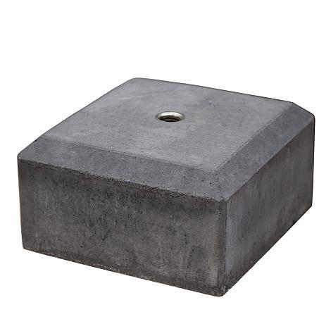 Betonpoer antraciet met afgeschuinde kanten 20x20x50 cm